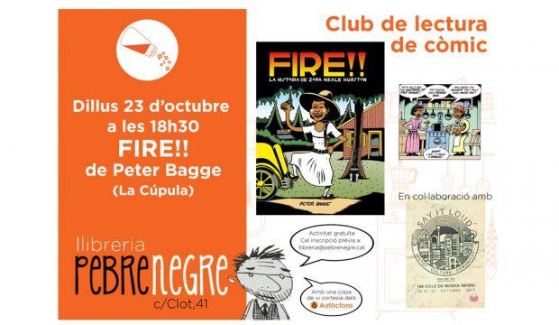 Cartell de l'activitat del club de lectura de Fire!!